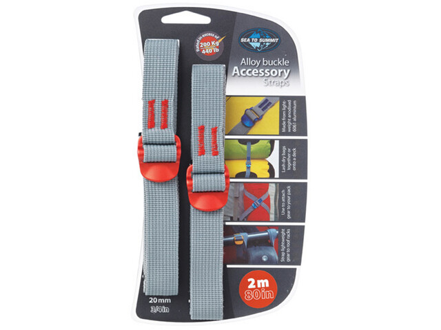 Sea to Summit Alloy Buckle Accessory Straps 20mm/2m, red